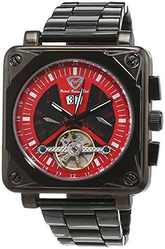 British Racing Club Unisex Armbanduhr Analog Automatik Edelstahl BRC Suzuka S Rot M