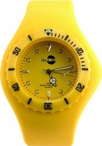 Liferoxx Watch Unisex Armbanduhr Analog Plastik gelb SW001