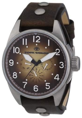 TOM TAILOR Herren-Armbanduhr XL Analog Quarz Leder 5405904