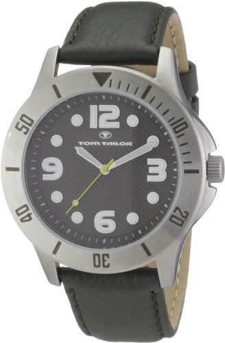 TOM TAILOR Herren-Armbanduhr XL Analog Leder 5407203