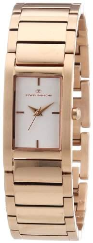 TOM TAILOR Damen-Armbanduhr Analog Quarz Edelstahl beschichtet 5409802