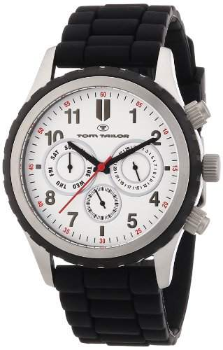TOM TAILOR Herren-Armbanduhr XL Chronograph Quarz Silikon 5410202
