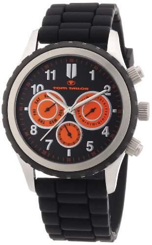 Tom Tailor Herren-Armbanduhr XL Chronograph Quarz Silikon 5410203