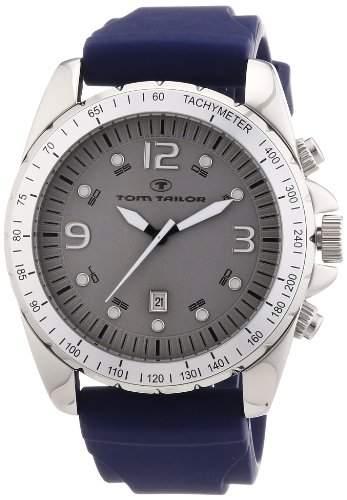 TOM TAILOR Herren-Armbanduhr XL Chronograph Quarz Silikon 5410303