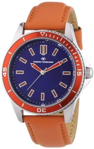 TOM TAILOR Herren-Armbanduhr XL Analog Quarz Leder 5412503