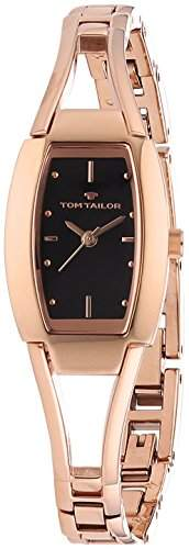 TOM TAILOR Damen-Armbanduhr Analog Quarz Edelstahl beschichtet 5412801