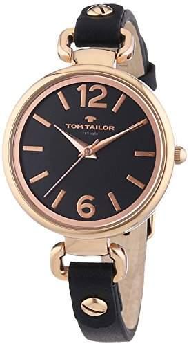 TOM TAILOR Damen-Armbanduhr XS Analog Quarz Leder 5413001