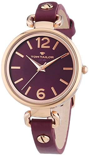 TOM TAILOR Damen-Armbanduhr XS Analog Quarz Leder 5413003