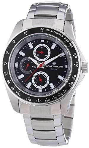 TOM TAILOR Herren-Armbanduhr XL Analog Quarz Edelstahl 5413303