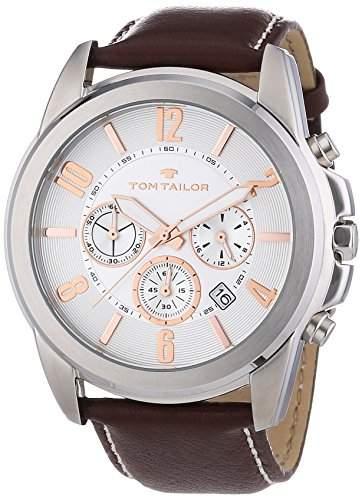 TOM TAILOR Herren-Armbanduhr XL Analog Quarz Leder 5413503