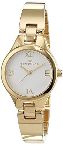 TOM TAILOR Watches Damen-Armbanduhr Analog Quarz Edelstahl beschichtet 5414401