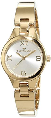 TOM TAILOR Watches Damen-Armbanduhr Analog Quarz Edelstahl beschichtet 5414402