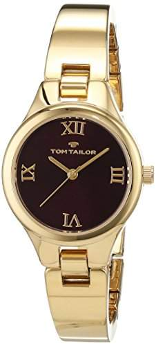 TOM TAILOR Watches Damen-Armbanduhr Analog Quarz Edelstahl beschichtet 5414403