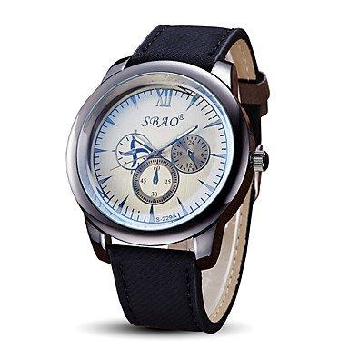 Fenkoo Herren Modeuhr Armbanduhr Quartz Stoff Band Cool Bequem Schwarz Marke