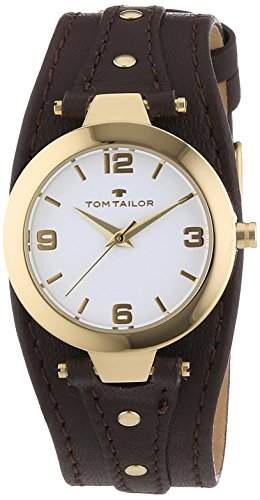 TOM TAILOR Damen-Armbanduhr XS Analog Quarz Leder 5413102