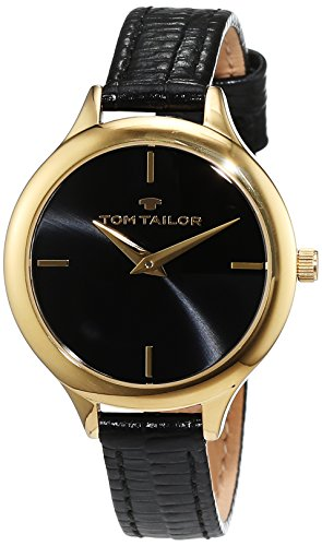 TOM TAILOR Watches Damen Armbanduhr Analog Quarz Leder 5414801