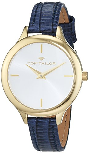TOM TAILOR Watches Damen Armbanduhr Analog Quarz Leder 5414804