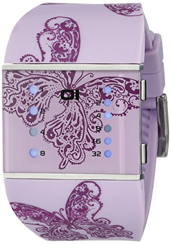 THE ONE Binary Watch Slim Square Lady Digital Quarz SLS140B3