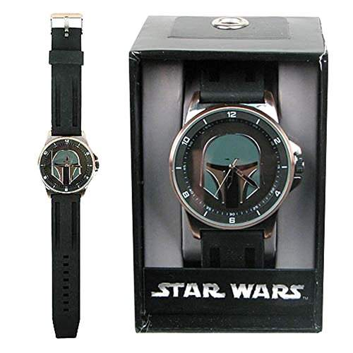 Offizielle Star Wars Boba Fett Black and Copper Tonal Armband Armbanduhr - Boxed