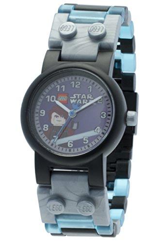 LEGO Star Wars 8020288 Anakin mit Minifigur und Gliederarmband zum Zusammenbauen grau blau Kunststoff analoge Quarzuhr Junge Maedchen offiziell