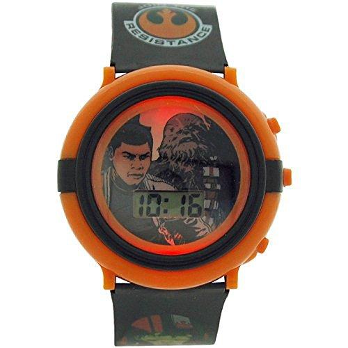 Star Wars Chewbacca Flinn Blinklicht Kunststoff Armbanduhr SWM3006