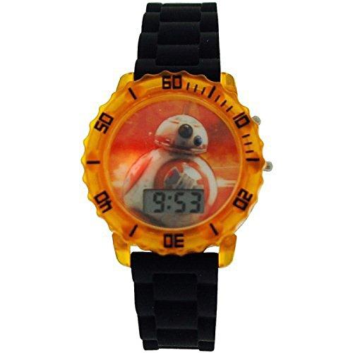 Star Wars Jungen Digital Datumsuhr BB8 Blinklichter Kautschukarmband SWM3077