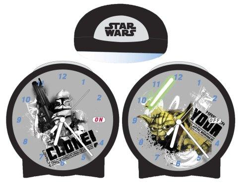 Star Wars Clone Wars Jugend Uhr Wecker mit Wechselbildern Clone und Yoda 18x24 cm 23240