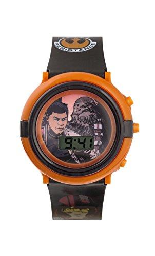 Star Wars Jungen Armbanduhr mit Digitalem Zifferblatt und Blauem Kunststoffarmband swm3006