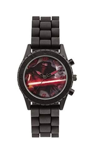 Star Wars Jungen-Armbanduhr Analog Silikon Schwarz SWM3053