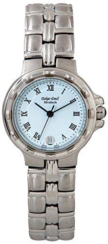 Oskar Emil klassische Uhren Marrakech Oskar Emil Damenuhr 500L womens Watch Armbanduhr Analog Edelstahl silber Marrakech Damen 500
