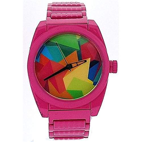 Firetrap Damenstahlarmbanduhr, rosa, mehrfarbiges Zifferblatt FT1028KMP
