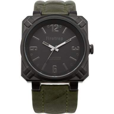 Firetrap Herren-Armbanduhr Full Metal Jacket Analog nylon gruen FT1076KH