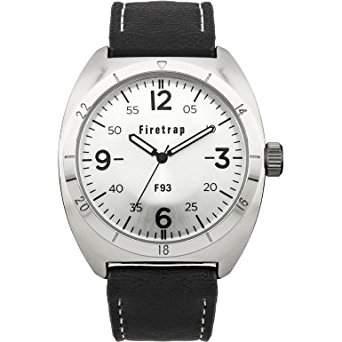 MenFiretrap Herren-Armbanduhr 17251562 Analog-Anzeige und Schwarz PU Strap FT2000S