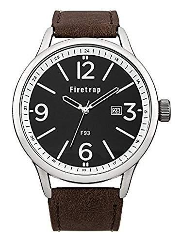 Herren Firetrap FT2001BL Braunes Band sehen Sie mit braunen Zifferblatt und Datum