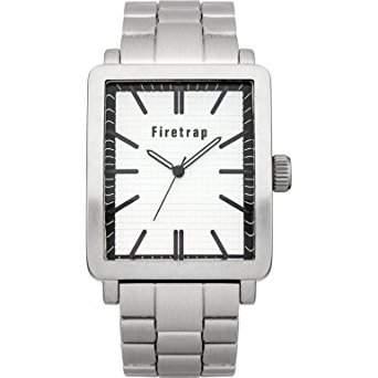 Firetrap MenQuarz-Uhr mit weissem Zifferblatt Analog-Anzeige und Silber-Armband-FT2011W
