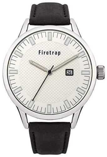 Firetrap Herren-Armbanduhr Analog Quarz Leder FT2012S