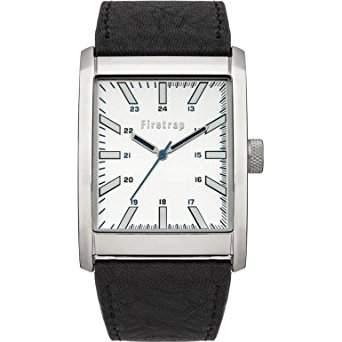 Firetrap MenQuarz-Uhr mit weissem Zifferblatt Analog-Anzeige und Schwarz PU Strap FT2013S