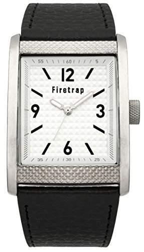 menFiretrap Herren-Armbanduhr 17251562 Analog-Anzeige und Schwarz PU Strap FT2016B