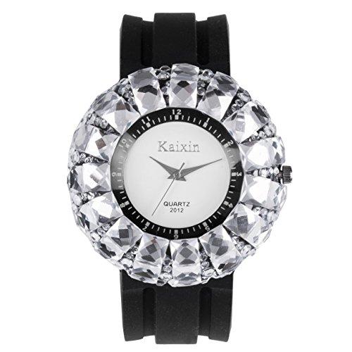 Frau Fashion Diamant Silikon Band Weiss Runden