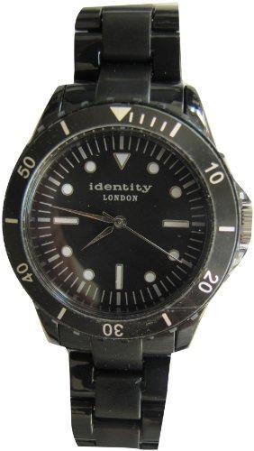 Identity London Unisex Armbanduhr Quarz Kunststoff Schwarz HEJN9401BL