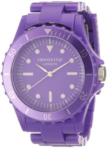 Identity London Unisex Armbanduhr Quarz Kunststoff Lila HEJN9401P