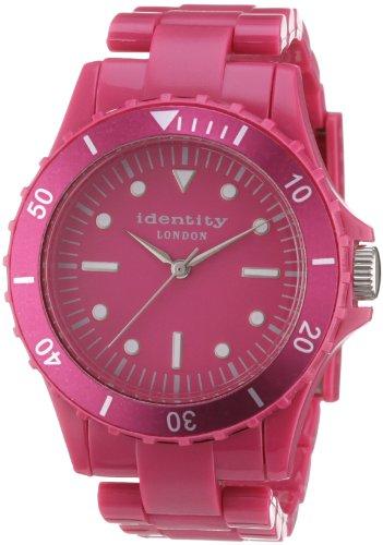 Identity London Unisex Armbanduhr Quarz Kunststoff Rot HEJN9401R