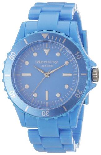 Identity London Unisex Armbanduhr Quarz Kunststoff Tuerkis HEJN9401T