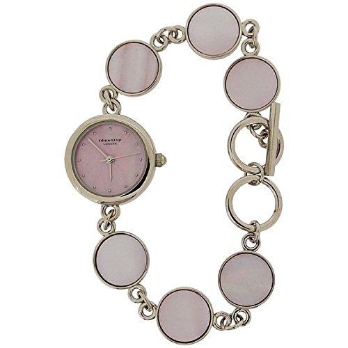 IDENTITY Stylische Damenuhr mit Metall Kettchenarmband in rosa Perlmuttausfuehrung Mit Praesentbox 222 5780