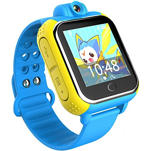 3G GPS Tracker Kinder Smart Watch TURNMEON Armbanduhr SIM SOS WiFi Android 4 2 tragen Kamera Touch Armbanduhr Eltern Control App fuer Smartphone Blau