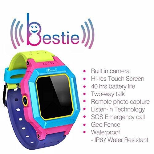 BESTIE Kids SMARTWATCH HANDY GPS TRACKER Kostenlose EE SIM Karte Kostenlose APP aus GB VERTRAGLOS