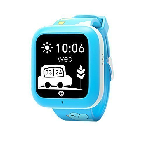 Misafes Smart Kid Watcher GPS Tracker digitale Uhr Security Monitor Mini Babyphone fuer iPhone 6 6 s blau Samsung s7 s6 HTC LG Google Nexus