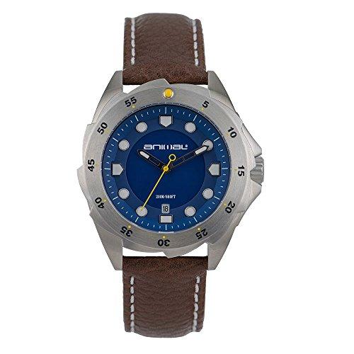 Animal Marine Armbanduhr Braun Leder