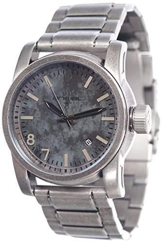 ANIMAL Herren-Armbanduhr BURN METAL Analog edelstahl Silber WW3WC005 - 002 - OS