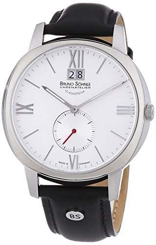 Bruno Soehnle Herren-Armbanduhr XL Analog Quarz Leder 17-13146-231